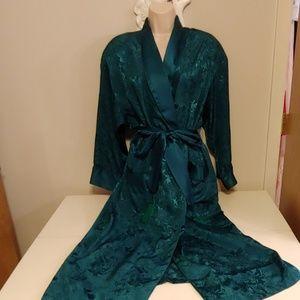 Victoria's Secret vintage 80s dark green robe